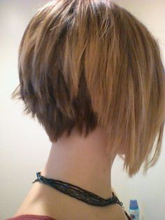 My hair, perfect piecy inverted bob and blond ombre color. I love it!