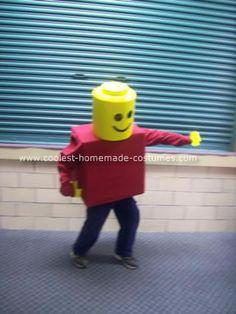 Coolest DIY Lego Minifig Boy Halloween Costume 35
