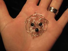 Wire Wrapped Dog Head MADE to ORDER pendant by 1ofAkinds on Etsy