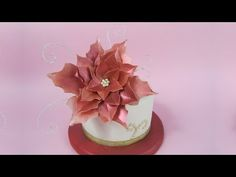 Wafer Paper Poinsettia tutorial (How to) - YouTube