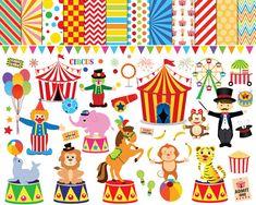 Ehi, ho trovato questa fantastica inserzione di Etsy su https://www.etsy.com/it/listing/248193016/56-circo-clipart-clipart-di-circo-clown