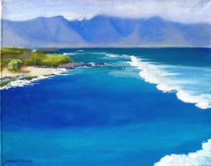 Blue Ocean Island Art  giclee reproduction of by GraciousArt