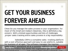 http://www.salesbabu.com Get Your Business Forever Ahead With SalesBabu CRM