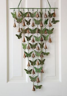 Bells and Oak Leaves or Butterflies Chime - Acacia