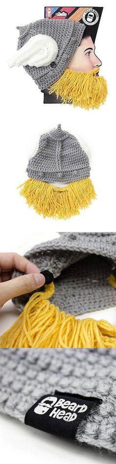 Hats and Headwear 62175: Beard Head - The Original Barbarian Thor Knit Beard Hat Yellow -> BUY IT NOW ONLY: $44.81 on eBay!