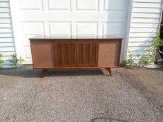 Morse Mid Century Solid State Stereo Console Radio Record Player TV Stand