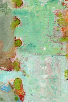"""""""Circle of Luv"""" by Blenda Tyvoll Detail of abstract painting"""