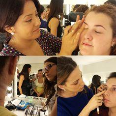 En el curso profesional de #maquillaje no paramos de maquillar.