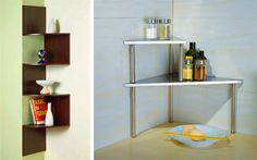 Multi-tiered corner shelves - maximize the corners do your kitchen counters.