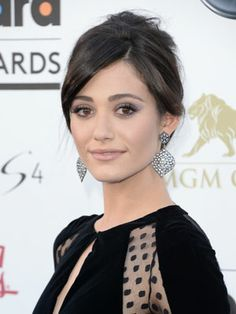 Cosmo Beauties of the Week: Emmy Rossum Pulls an Audrey Hepburn with a Super-Glam Updo