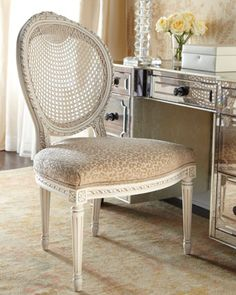 """""""Leona"""" Chair by Jeff Zimmerman Collection by Key City at Horchow...the light leopard would match my winter bedding perfectly"""