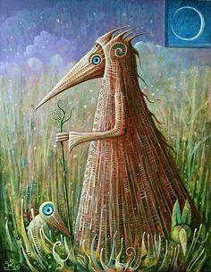 Grassland Shaman by Frodo K on DeviantArt (acrylic, 45 x 35cm)