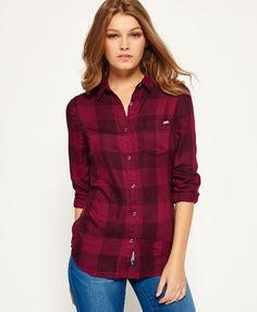 deep plum buffalo check