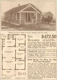 many great vintage floor plans - Sw Small House Plans