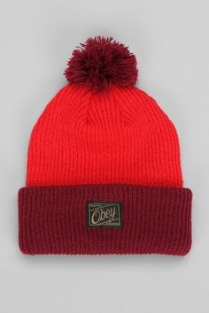 OBEY Old Timey Pom Beanie  urbanoutfitters Dope Hats 199ac902710