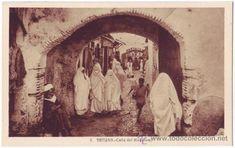 Tetuán (Protectorado español en Marruecos): Calle del Mukadem. L. Roisin. No circulada (Años 30) - Foto 1