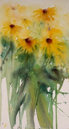 """""""Dancing Rudbeckia""""     Oh my word. When I fall in love with a subject I really do. I knew after a hectic weekend and two weeks teachin..."""
