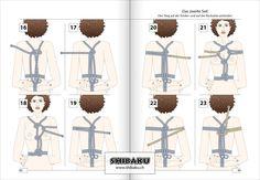 Hishi-shibari => Buchseite 88/89 aus Shibaku · Takate-kote & Oberkörper