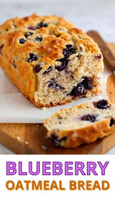 Blueberry Oatmeal Bread, Healthy Blueberry Muffins, Lemon Muffins, Blueberry Recipes That Freeze Well, Recipes With Fresh Blueberries, Blueberry Breakfast Recipes, Healthy Blueberry Bread, Healthy Blueberry Desserts, Frozen Blueberry Recipes