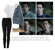 """""""Imagine waiting for Liam and Stiles with  Scott and asking them what took so long"""" by paytongxox ❤ liked on Polyvore featuring Athleta, Topshop, Sperry Top-Sider, women's clothing, women, female, woman, misses and juniors"""