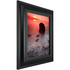 Craig Frames Contemporary Upscale Satin Black Picture Frame