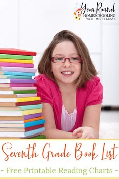 You and your tween can work together to find the right books for them by using this Seventh Grade Book List. #MiddleSchool #MiddleSchoolBookList #SeventhGradeBookList #Literature #BookList #Homeschool #Homeschooling #YearRoundHomeschooling