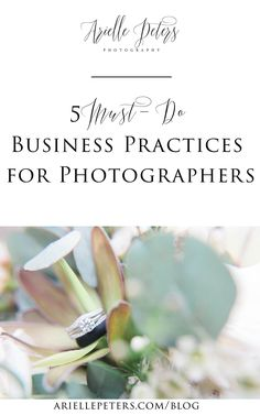 5 Business Practices Every Photographer Should Do To Help Grow Their Business