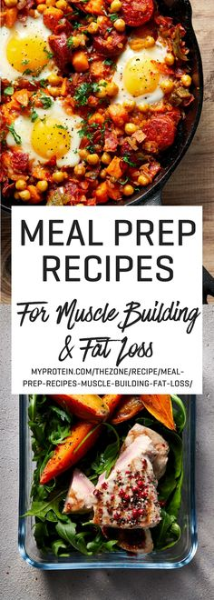22 Meal Prep Recipes For Muscle Building & Fat Loss - Myprotein - healthy meals prep - Fat Burning Detox Drinks, Fat Burning Foods, Healthy Meal Prep, Healthy Eating, Healthy Recipes, High Protein Meal Prep, Healthy Food, Healthy Workout Meals, Meal Prep Recipes
