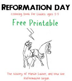 free Martin Luther - Reformation color book