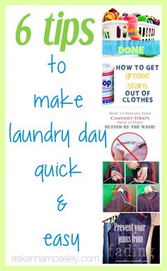 6 laundry tips to make laundry easier - Ask Anna