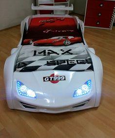 Grand Prix Enzo auto letto - bianco, full - porta aperta