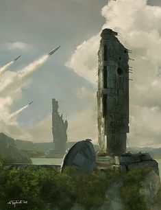 ...towers... by tredowski.deviantart.com on @deviantART
