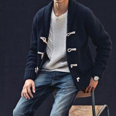 Navy Toggle Cardigan