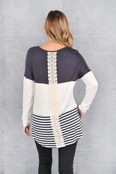 Colorblock & Lace Back Tunics