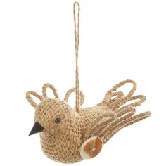Burlap Bird Ornament