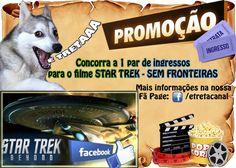 O Canal É Treta está fazendo uma promoção imperdível! Vamos sortear 1 par de ingressos pro filme STAR TREK - SEM FRONTEIRAS Não perde, mané! Confere as regras porque é facinho!