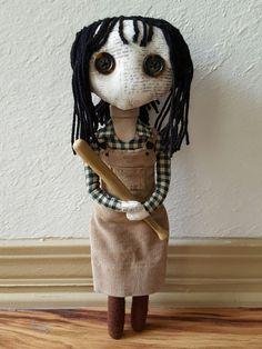 Handmade Doll Wendy Torrance by MoodyVoodies on Etsy @moodyvoodies on Instagram  #theshining #wendytorrance #horror #horrorcollector #horrorfan #artdoll
