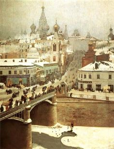 Russian winter city scape. Artist?