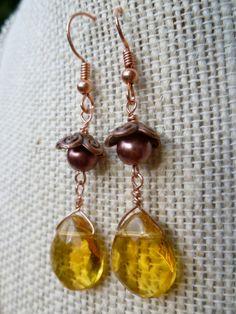 Autumn Harvest Dangle Earrings by StudioCKH on Etsy, $15.00