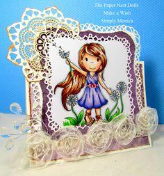 "June New Release ""Make a Wish"" Simply Monica #papernestdolls #cards #copics #spellbinders"