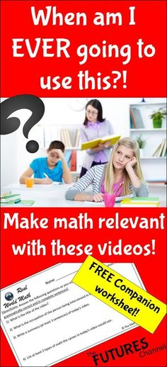 Short videos that showcase exciting and sometimes unusual careers that use math. Get your students excited!