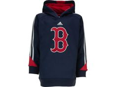 Boston Red Sox adidas MLB Youth Long Sleeve Popover Hoodie