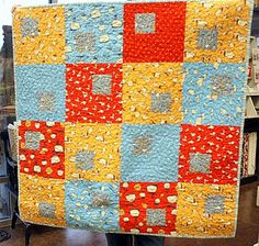 cute baby quilt - good for boys!