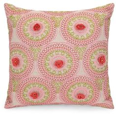 Jessica Simpson Amrita Medallion Crochet Decorative Pillow (85 CAD) ❤ liked on Polyvore featuring home, home decor, throw pillows, coral, multi color throw pillows, medallion throw pillows, crochet home decor, crochet throw pillow and multi colored throw pillows