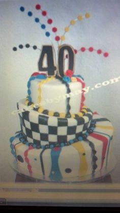 My 40th Nascar B-day cake idea but w my 2 fav drivers