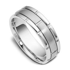 Mens 14K White Gold Handmade Wedding Band Ring  by TallieJewelry, $669.99