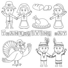 Native Americans Thanksgiving coloring page Thanksgiving