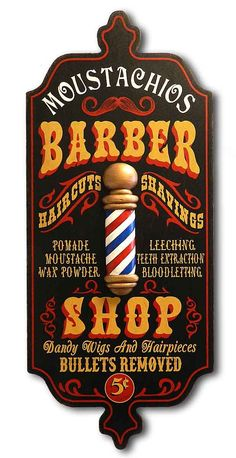 Barber Shop - Personalized Dubliner Wood Sign