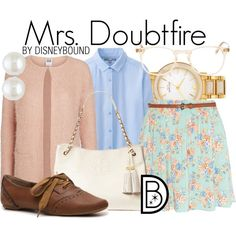 """""""Mrs. Doubtfire"""" by leslieakay on Polyvore"""