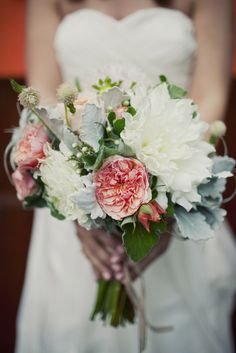.Never would of thought of peonies for a wedding boquet!